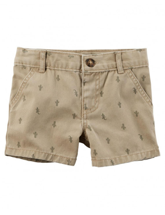 Carter's Baby Boys' Cactus Flat-Front Twill Shorts, 18 Months
