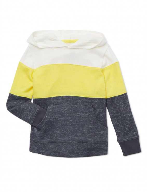Wonder Nation Baby and Toddler Boys' Colorblocked Pullover Hoodie