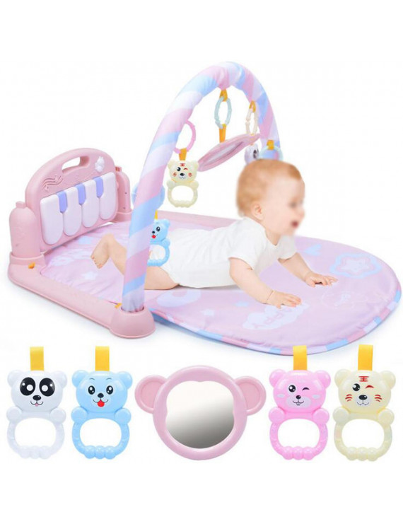 3 in 1 Lay & Play Kick & Play Piano Newborn Gym Baby Play Crawling Mat Fitness Music And Lights Fun Piano Toy Christmas Gift