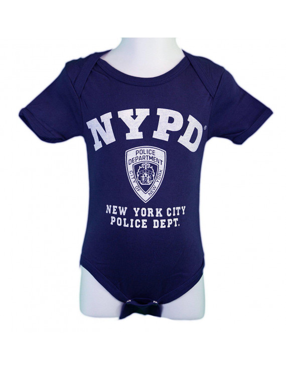 NYPD Baby Infant Screen Printed Bodysuit Navy Small (0-6m)