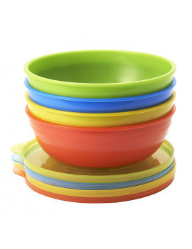 Love-a-Bowls 10 Piece Feeding Set, Spill-proof, leak-proof and break-proof, 100% guaranteed By Munchkin