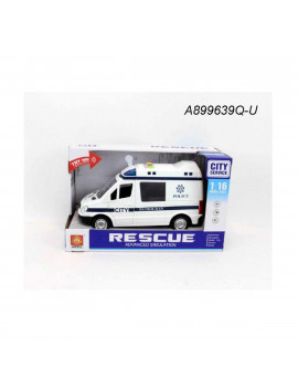 "10.5"" Advanced Rescue Ambulance 1:16 Scale Toy Car with Sound and Light"