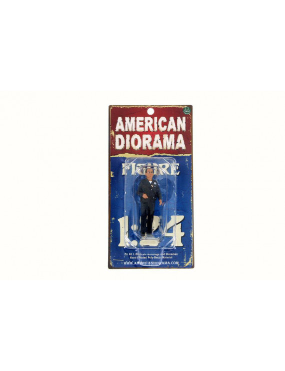 Police Officer I Figurine, American Diorama 24031 - 1/24 Scale Hobby Accessory