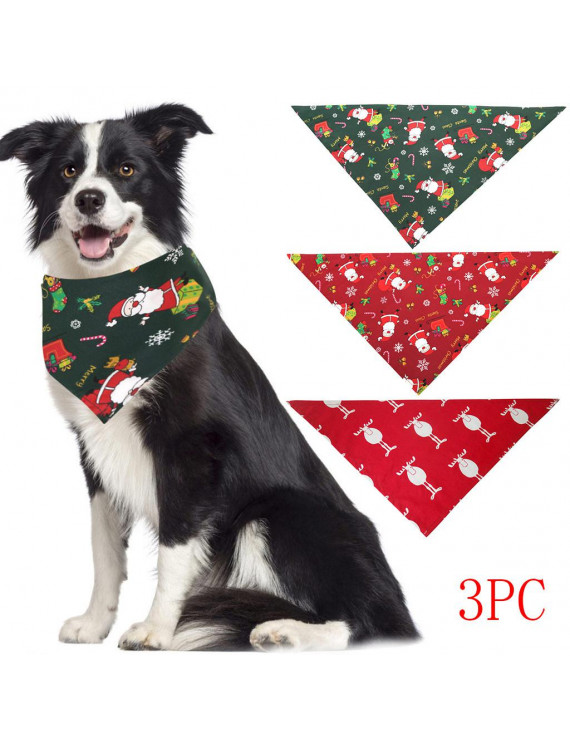 〖Follure〗2PC Pet Bibs Saliva Towel Christmas With Costume Decor Hats For Small Cat Dog