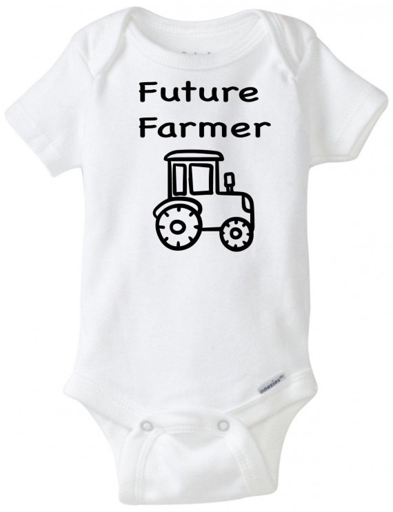 Future Farmer Funny Novelty Baby Unisex Onesie Boy Girl Clothes Bodysuit (12 Months)