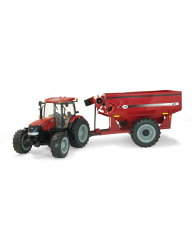 Big Farm Lights & Sounds Case IH 1:16 Scale Tractor with J&M Grain Cart