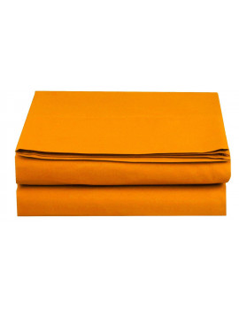 1500 Thread Count Hospitality Flat Sheet 1-Piece Flat Sheet, Full Size, Vibrant Orange