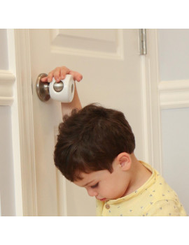 Child Safety Door Knob Covers - 4 Pack - Baby Proof Knobs -  Child Proof Doors by Jool Baby