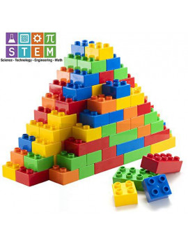 150 Piece Classic Big Building Blocks Compatible with All Major Brands STEM Toy Building Bricks Set for All Ages