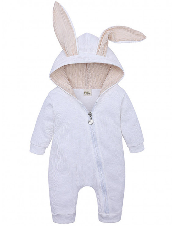 Toddler Baby Girls Romper Easter Bunny Jumpsuit Costume Zip Up Pajamas Outfits
