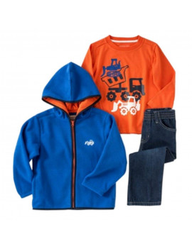 Kids Headquarters Infant Boy Dump Truck Set Pants Shirt Fleece Jacket