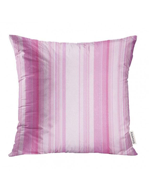 YWOTA Purple Funky with Colorful Pink and White Stripes Birthday Kids Child Shapes Modern Pillow Cases Cushion Cover 16x16 inch