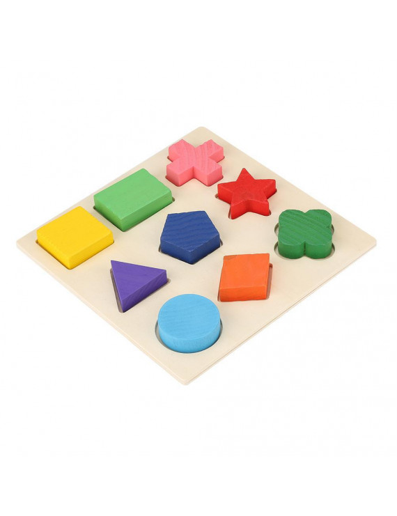 LYUMO Funny Children Wooden Geometry Shape Wooden Puzzle Stacking Building Block Early Learning Toy, Learning Education Toy, Geometry Shape Wooden Stacking Block