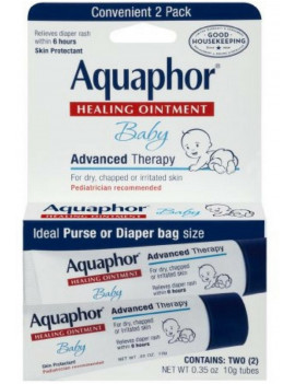2 Pack - Aquaphor Baby Healing Ointment Advanced Therapy 2 tubes 0.35 oz