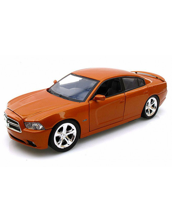 2011 Dodge Charger, Orange - Showcasts 73354 - 1/24 Scale Diecast Model Car (Brand New, but NOT IN BOX)