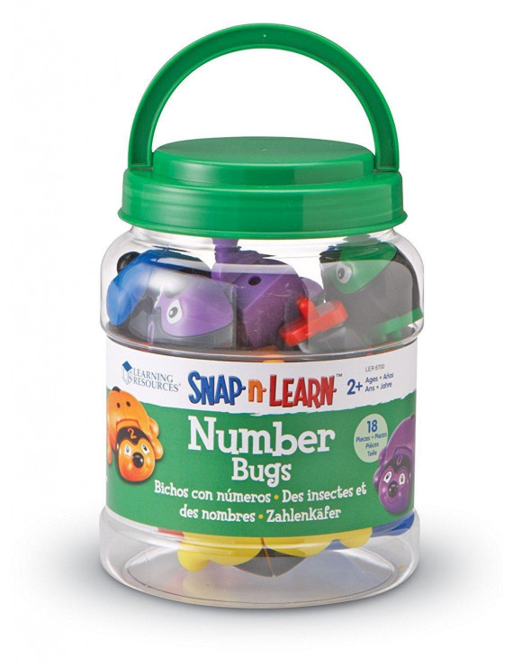 Learning Resources Snap-n-Learn Number Bugs, 18 Pieces, Ages 2+