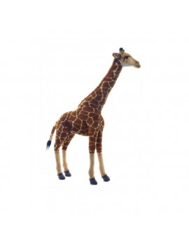"""27.5"""" Handcrafted Brown and Ivory Realistic Free Standing Plush Baby Giraffe Stuffed Animal"""
