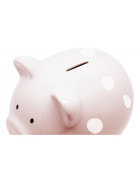 Ceramic Pink Piggy Bank, Makes a Perfect Unique Gift, Nursery Décor, Keepsake, or Savings Piggy Bank for Kids, Pink, Glazed ceramic bank is perfect for any nursey or.., By Pearhead