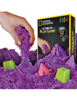 National Geographic Ultimate Play Sand Purple 2 lbs with 6 Castle Molds