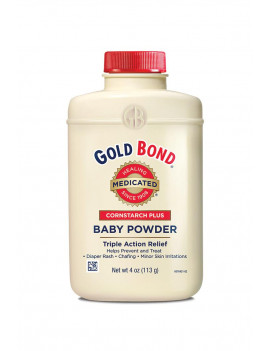 Gold Bond Baby Powder with Cornstarch, Triple Action Relief, 4 oz
