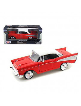1 by 24 1957 Chevrolet Bel Air Diecast Model Car, Red