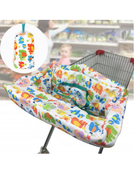 2-in-1 Shopping Cart Cover for Babies & Toddlers - High Chair Seat Cover for Restaurants & Homes