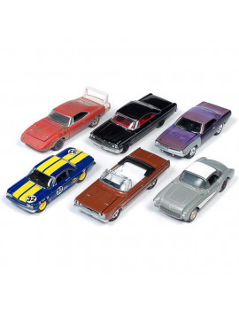 1 by 64 Scale Muscle 2019 Release 2A Model Car, 6 Piece