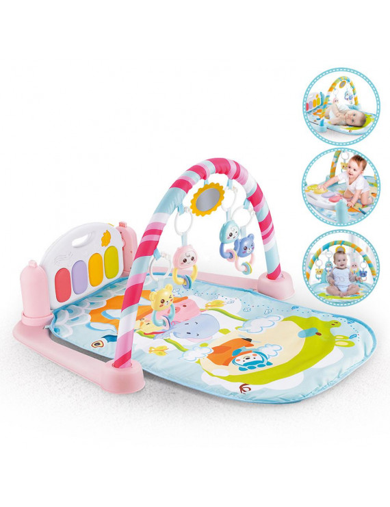 Kick and Play Newborn Toy with Piano for Baby 1 - 36 Month, Lay and Play, Sit and Play, Activity Toys, Play Mat Activity Gym