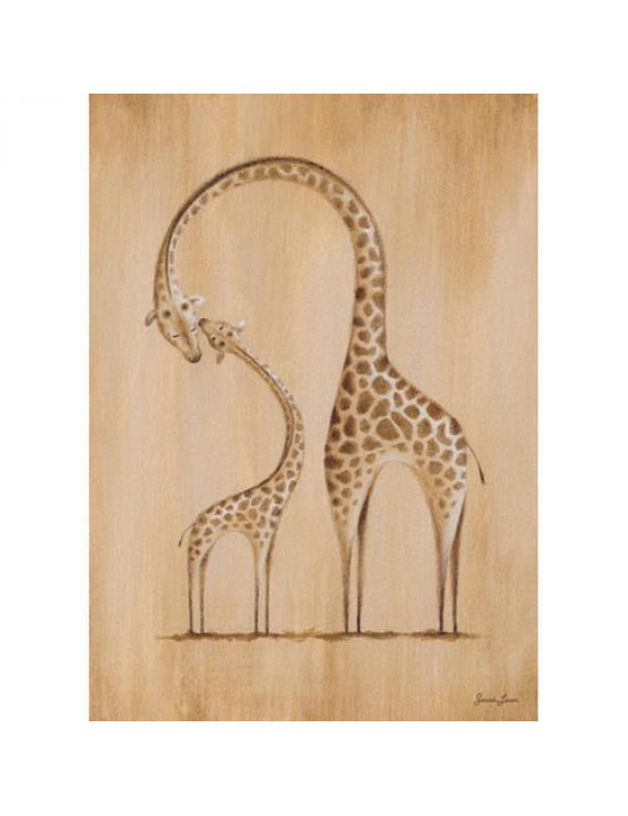 Oopsy Daisy's Safari Kisses Giraffe Canvas Wall Art, 10x14