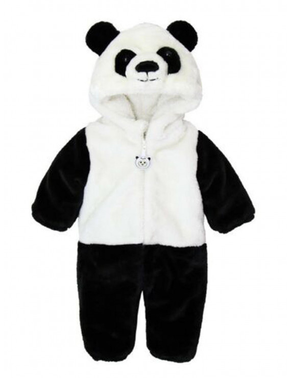 Kid Infant Baby Girl Boy Panda Costume Hooded Romper Jumpsuit Clothes Outfits