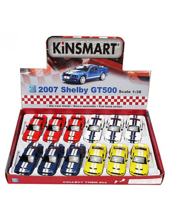 2007 Shelby GT500 Diecast Car Package - Box of 12 1/38 scale Diecast Model Cars, Assorted Colors