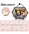 Deago Diaper Bag Multi-Function Waterproof Travel Backpack Nappy Bags for Baby Care, Large Capacity with USB Charging Port