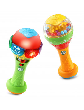 LeapFrog Learn and Groove Shakin' Colors Maracas, Bilingual Music Toy