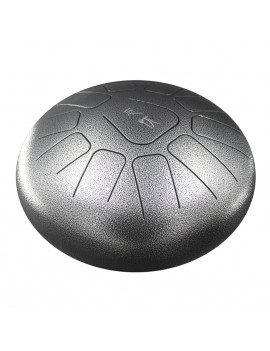 10 Inch Steel Tongue Drum Handpan Drum Hand Drum 11 Tones Percussion Instrument with Drum Mallets Carry Bag Note Sticks for Meditation Yoga Zazen Sound Healing