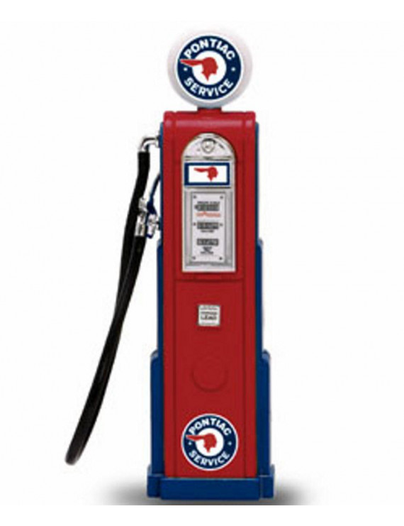 Digital Gas Pump Pontiac Service, Red - Yatming 98661 - 1/18 scale diecast model