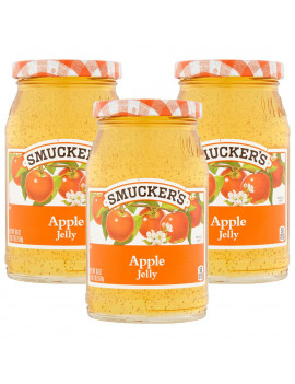 (3 Pack) Smucker's Apple Jelly, 18 oz