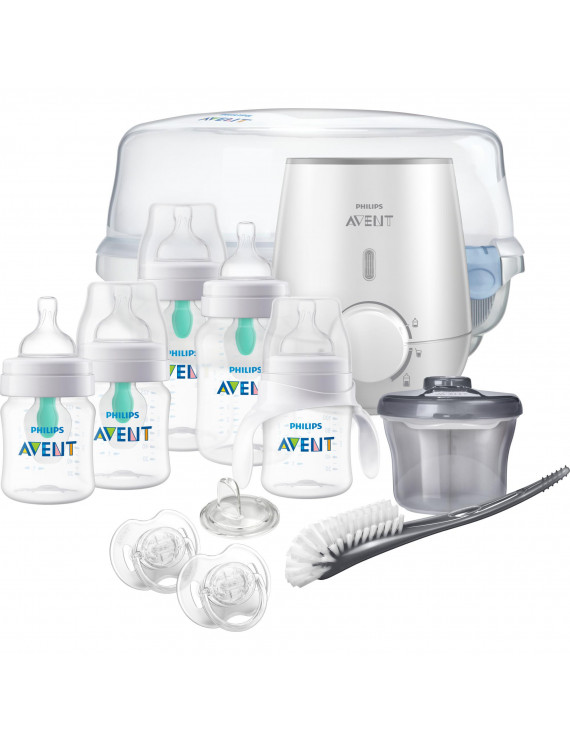 Philips Avent Anti-colic Baby Bottle with AirFree vent Gift Set All In One, SCD397/02