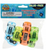 US Toy 4472 8 Piece Transparent Pull Back Cars - Pack of 8