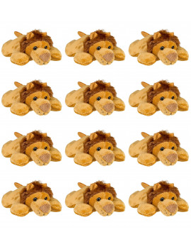"Wildlife Tree 12 Pk Lion 4"" Small Stuffed Animals Bulk Safari Party Favors"