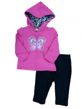 Kids Headquarters Infant Girls Butterfly Hoodie Sweatshirt & Leggings Outfit 24m