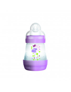 MAM Baby Bottles for Breastfed Babies, MAM Baby Bottles Anti-Colic, Girl, 5 Ounces, 1-Count