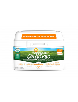 Happy Baby Organics Organic Stage 1 Milk Based Powder with Iron Infant Formula 21 oz. Tub