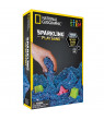 National Geographic Sparkling Blue Play Sand 2 lbs with 6 Castle Molds