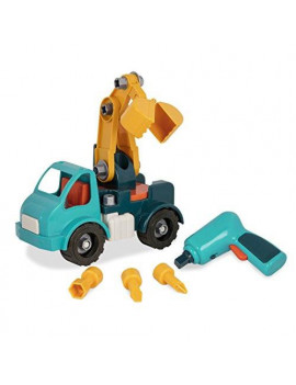 Battat â?? Take-Apart Crane Truck â?? Toy vehicle assembly playset with functional battery-powered drill - Early childhood developmental skills toy for kids aged 3 and up