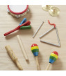 Melissa & Doug Band-in-a-Box Clap! Clang! Tap! Musical Instruments (Various Instruments, Wooden Storage Crate, 10-Piece Set, 3? H x 11.3? W x 14.9? L)