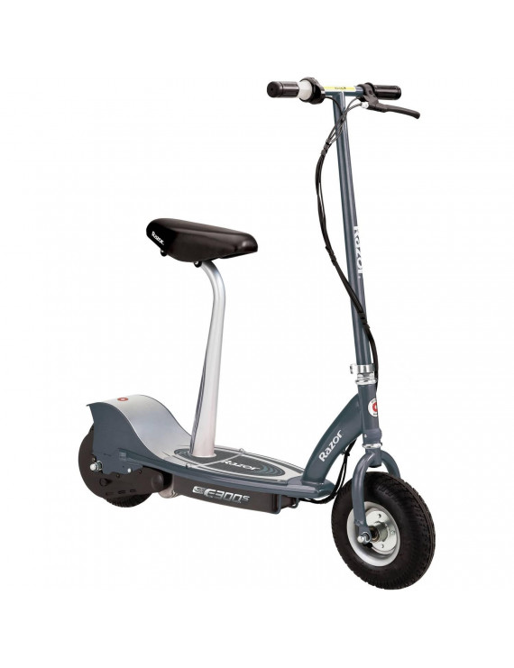 Razor E300S Electric Powered Seated Scooter Gray- Ages 13+