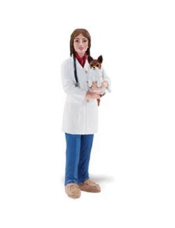 Safari Ltd People At Work - Jenny The Veterinarian - Realistic Hand Painted Toy Figurine Fixture Model - Quality Construction From Safe And BPA Free Materials - For Ages 3 And Up