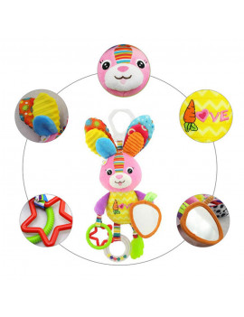 0-2 Years Old Babies And Infants Educational Cartoon Animal Shaped Bed Bell Teething Gel BB Device Plush Toy