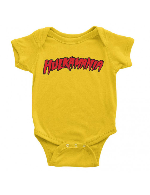 "Official WWE Authentic Hulk Hogan ""Hulkamania"" Baby Creeper Multi Small"