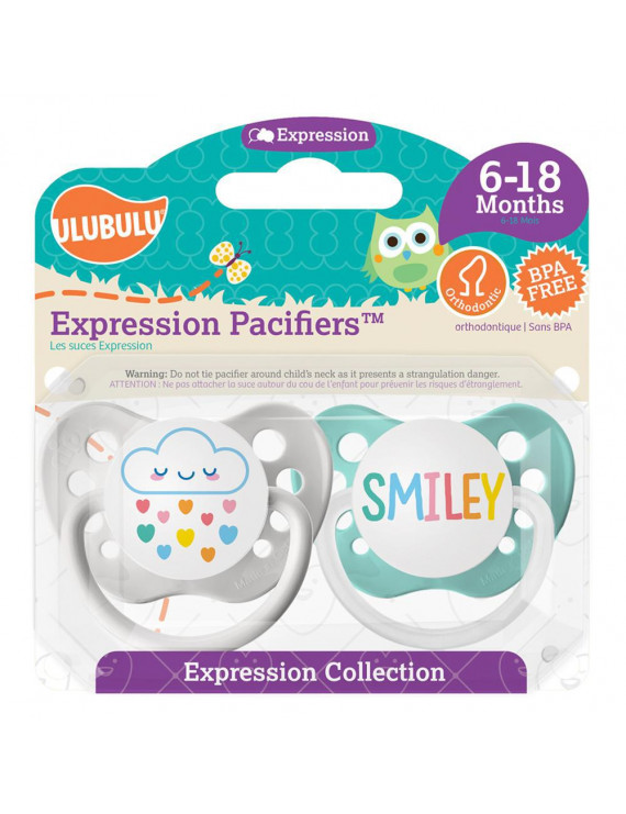 Pacifiers - Ulubulu - Cloud Rainbow & Smiley (0-6M)